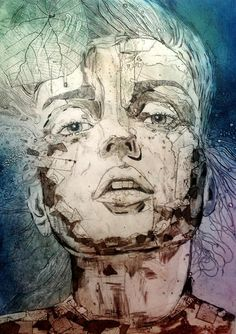 #collagraph - inks on paper www.jetjames.com.au