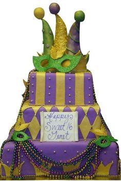 Great Mardi Gras Cake #cake #holiday
