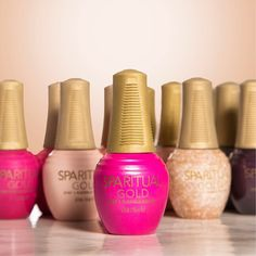 GOLD is here! Our 2 Step #GOLDFlexibleColor System is available on SpaRitual.com. GOLD creates a long wearing, easy on/easy off, smudge resistant, and high shine finish that DOUBLES the wear of your manicure.  Experience the new generation of nail color.