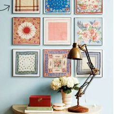 Hankies in frames From miss bee's haven