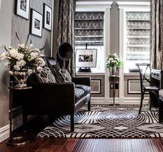 inspiracje w moim mieszkaniu: Lata 20 w stylu Wielkiego Gatsby'ego / 20 Years in. Scott Fitzgerald, Art Deco, Office Interiors, Deco Interiors, The Great Gatsby, Office Decor, 1920s, Sweet Home, Lounge