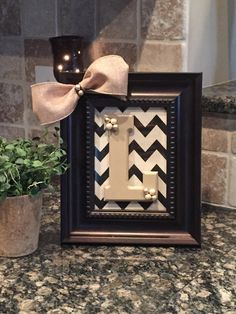 Monogram Picture Frame Monogram Picture Frames, Monogram Wall, Nursery, Unique Jewelry, Handmade Gifts, Projects, Crafts, Vintage, Etsy