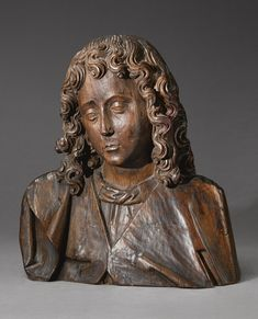 A Netherlandish oak bust of Saint John, early 16th century