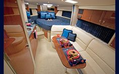 Interior of Gulfstream G650 - Michel's Jet is similar to this, cream carpet, wooden trim, very stylish.