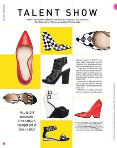 Shoe page layout - ASOS magazine Magazine Page Design, Magazine Page Layouts, Mise En Page Magazine, Editorial Layout, Editorial Design, Editorial Fashion, Asos Magazine, Catalogue Layout, Web Design