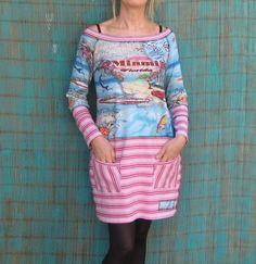 Cute upcycled tshirt dress.