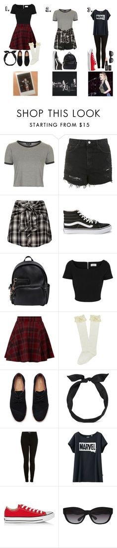 """Outfits Inspired By Miranda Miller from Hey Violet"" by sophie-irwin ❤ liked on Polyvore featuring Topshop, Vans, Dsquared2, Preen, TOMS, yunotme, Uniqlo, Converse, Ralph Lauren and GetTheLook"
