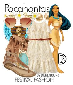 """""""Pocahontas"""" by leslieakay ❤ liked on Polyvore featuring Blue Nile, Disney, Chan Luu, Moon and Lola, Juicy Couture, Lele Sadoughi, Lucky Brand, women's clothing, women and female"""