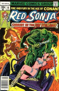 Marvel - Marvel Comics - Fire Stallions - Fight - Monster - Frank Thorne
