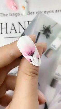 Nail Art Designs Videos, Nail Design Video, Nail Art Videos, Nails Design, Nail Art Tutorials, Nail Art Flowers Designs, Nagellack Design, Nagellack Trends, Rose Nail Art