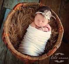 Vintage Neugeborenen Stirnband Fotografie Prop von NewbornPhotoProp