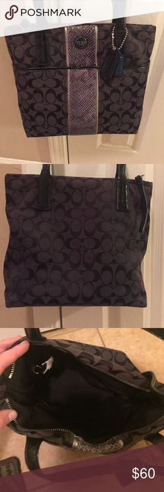 Black coach purse In great condition. Absolutely nothing wrong with it. Coach Bags Shoulder Bags