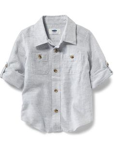Roll-Up Linen Shirt for Baby