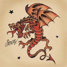Afbeeldingsresultaat voor traditional dragon tattoo