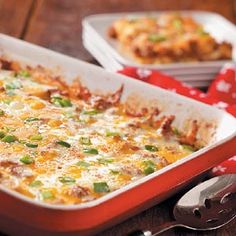 """Zucchini Pizza Casserole - Author wrote, """"My husband has a hearty appetite—our two kids never tire of pizza—and I grow lots of zucchini. So this tasty, tomatoey casserole is absolutely tops with us throughout the entire year. Once you've tried the recipe, you may even decide to grow more zucchini in your own garden next summer!""""  1 serving (1 cup) equals 311 calories, 20 g fat (11 g saturated fat), 132 mg cholesterol, 754 mg sodium, 9 g carbohydrate, 2 g fiber, 25 g protein."""
