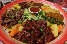 Ethiopian Food. Try it!