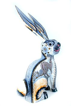 Bunny  Aurora Sosa Oaxacan Wood Carvings
