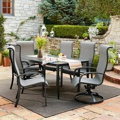 Camden 4-Piece Sling Swivel Rocker Dining Chairs - Threshold™ : Target