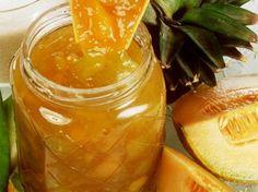 Confituur van meloen en ananas