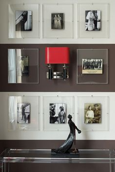 Discover ideas for displaying art on HOUSE - design, food and travel by House & Garden. Black and white family photographs in clear glass frames look impactful.