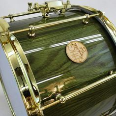Green and gold #hhgdrums #stave #snaredrum