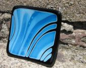 White and Blue Dotted Fused Glass Dish. $22.00, via Etsy.