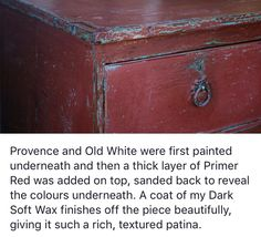 Annie Sloane- primer red over old white and provence