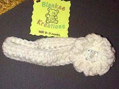 London's Eggshell small flower headband (0-3 months)