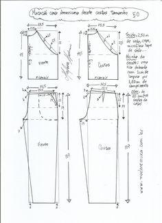 Patrón para hacer un mono con sisa americana. Tallas desde la 36 hasta la 56. Talla 36: Talla 38: Talla 40: Talla 42: Talla 44: Talla 46: Talla 48: Talla 50: Talla 52: Talla 56: Fuente:http://www.marlenemukai.com.br/ Patrón pantalón de chandal pitilloDIY como hacer unos Shorts Paper BagPatrón Guardapolvos SaruelPatrón pantalón ancho con cintura …