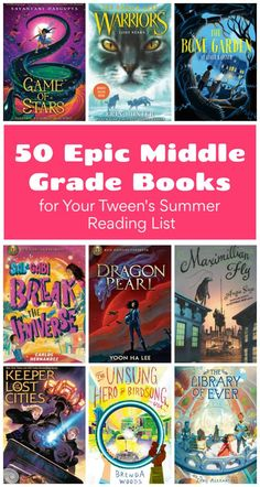 50 Epic Middle Grade Books for Your Tween s Summer Reading List 50 Epic Middle Grade Books for Your Tween s Summer Reading List Friedrich Danderfer … – Preteen Summer Books, Summer Reading Lists, 6th Grade Reading, Kids Reading, Middle School Boys, Middle School Reading, Library Books, Library Ideas, Children's Books