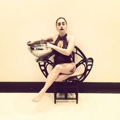 First there was the pre-challenge photo: | Lady Gaga Does The Ice Bucket Challenge In The Most Lady Gaga-y Way Possible