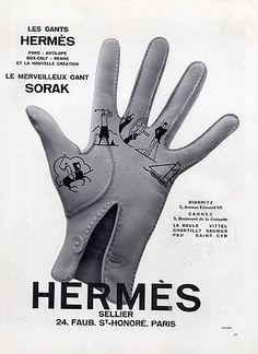 Hermès (Gloves) 1930 Sorak Box-Calf Antilope