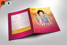 Beautiful Pink Funeral Program by SeraphimChris