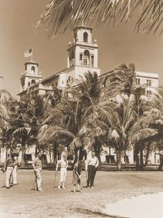 A vintage photo of a golf foursome at The Breakers.