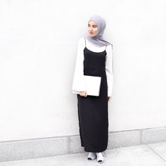 slip on over bell sleeve – HijabStyle Islamic Fashion, Muslim Fashion, Modest Fashion, Unique Fashion, Hijab Fashion, Fashion Outfits, Women's Fashion, Casual Hijab Outfit, Hijab Chic
