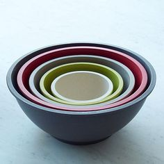 $27 Love these for serving! Eco-Fiber Bamboo Mixing Bowl Set #WestElm
