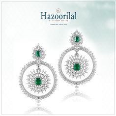 An eye catching pair that delicately encircles the mesmerizing #emeralds with pristine #diamonds . Another masterpiece by #HazoorilalJewellersGK