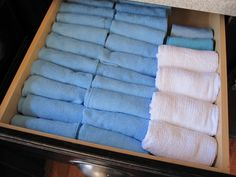 Roll Kitchen Towels to save room