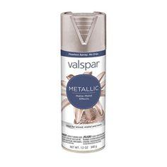 Valspar Brushed Nickel Metallic Fade Resistant Enamel Spray Paint (Actual Net…