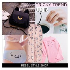 """""""Tricky Trend: Chic Culottes"""" by rebelstyleshopofficial ❤ liked on Polyvore featuring New Look"""
