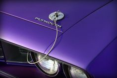 1971 Plum Crazy Purple Plymouth 'Cuda 440 - By Gordon Dean II I like the old school hood pins.