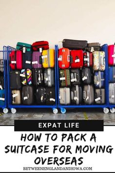 Handy Tips: How To Pack A Suitcase For Moving Overseas How to pack a suitcase for moving overseas. 8 packing tips for a successful start to expat life!How to pack a suitcase for moving overseas. 8 packing tips for a successful start to expat life! Packing To Move, Packing List For Travel, Packing Lists, Packing Hacks, Suitcase Packing Tips, How To Pack Suitcase, Moving Across Country, Vacation Deals, Travel Deals