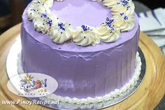 Ube Macapuno Cake Recipe is a purple yam cake, which is a well-loved dessert by Filipinos. Ube Macapuno Cake is often served at birthday parties and special occasions.