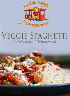 Daniel Tiger Veggie Spaghetti gluten free
