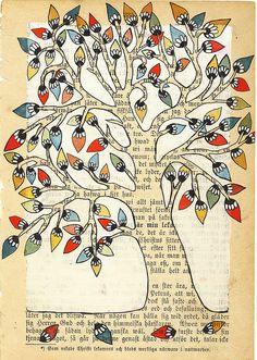 Retro Tree - Illustration Copyright © Annette Mangseth