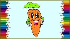How to draw a cute carrot easy for beginners. Cartoon carrot drawing step by ste… – Bloğ Simple Cartoon, Cartoon Kids, Food Drawing, Step By Step Drawing, Cartoon Drawings, Easy Drawings, Carrot Drawing, Carrot Benefits, Cute Cars