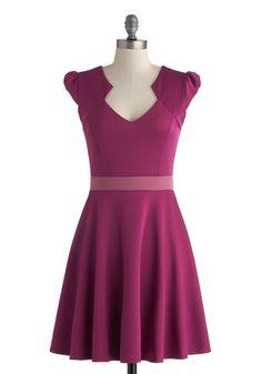 Vivacious and Vibrant Dress in Magenta   Mod Retro Vintage Dresses   ModCloth.com   $48
