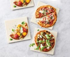 thinkkitchen Naples Square Pizza Stones, Set of 4 Square Pizza, Pizza Delivery, Cooking Tools, Bruschetta, Vegetable Pizza, Pizza Stones, Baking, Naples, Ethnic Recipes