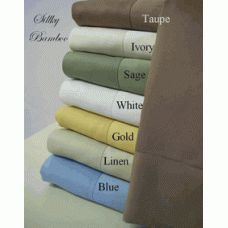 "100 Bamboo King Size Pillow cases    Silky Bamboo King Size Pillow cases. Colors- Blue, Gold, Ivory, Sage, Taupe, and White. The softness of luxurious 100% silky bamboo like those found in royalty homes. You won't be able to go back to cotton after trying bamboo. Amazingly soft similar to cashmere or silk. 60% more absorbent than cotton.King Size Includes: 2- King Pillow cases 20"" x 40"" ea."
