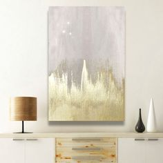 'Offwhite Starry Night' by Oliver Gal - Wrapped Canvas Graphic Art Print 'Offwhite Starry Night' Painting Print on Wrapped Canvas Diy Canvas Art, Diy Wall Art, Canvas Wall Art, Canvas Walls, Canvas Ideas, White Wall Art, Diy Artwork, Wall Décor, Simple Canvas Art